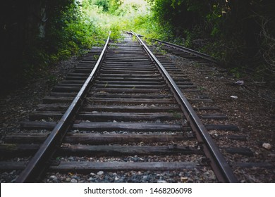 railway track with wooden sleepers