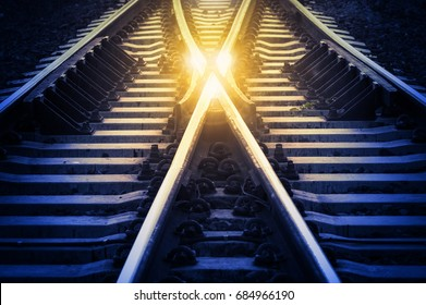 Railway track,Change or Choices concept.