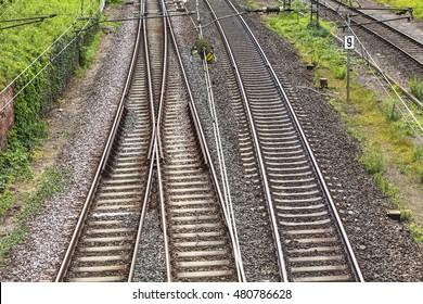Railway tracks in Germany