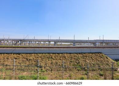 the railway tracks at Hakodate ,japan 2017