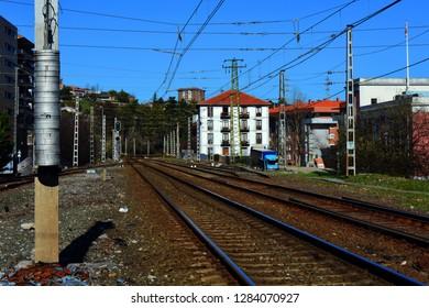 Railway tracks near the town 2