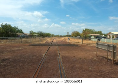 Railway tracks in the town of Normanton in outback Queensland, Australia