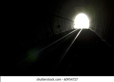Railway tunnels.