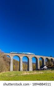 Railway viaduct Novina in Krystofovo udoli, Northern Bohemia, Czech Republic - Shutterstock ID 1894884511