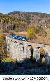 Railway viaduct Novina in Krystofovo udoli, Northern Bohemia, Czech Republic - Shutterstock ID 1894888054