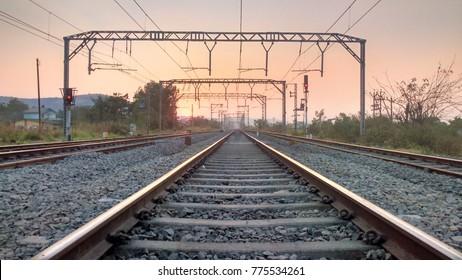 Railways Tracks (Sunset)