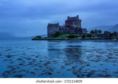 Rain and blue hour at Eilean Donan Castle