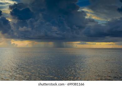 rain cloud over the Palau