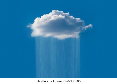 Rain cloud in the sky