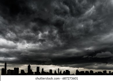 Rain clouds, abstract background texture