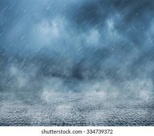 Rain, clouds and fog