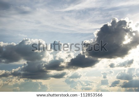 rain clouds in sky , cloudscape