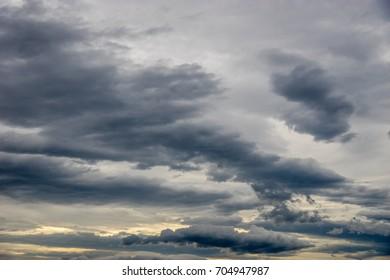 Rain clouds spread over the sky in rainy season