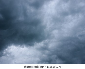 Rain clouds, storm clouds before a thunder-storm