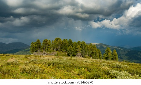 Rain is coming in Mountain Altay, Siberia, Russia, Autumn