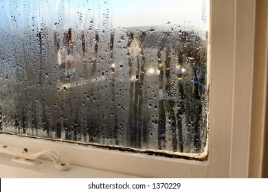 Rain covered window