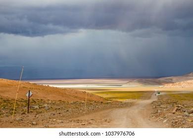 Rain in desert
