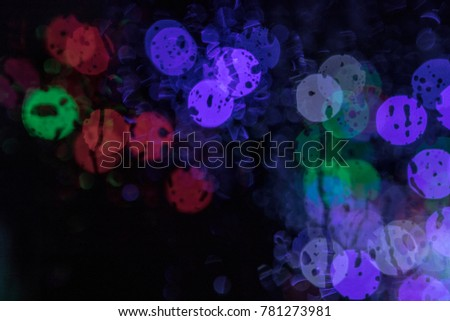 Rain Drop Bokeh Light Colorful Background Stock Photo Edit