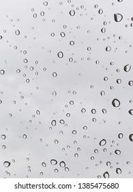 Rain drop on glass texture