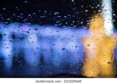 RAIN DROP ON THE WINDOW