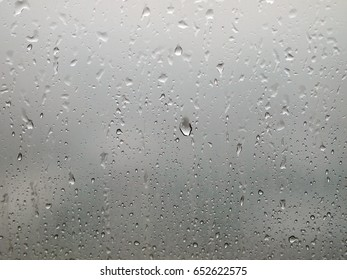 Rain drop on window