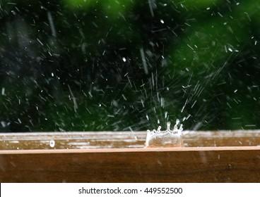 Rain drop and splash
