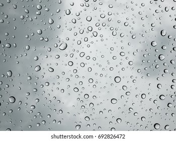 Rain droplet / Water is a transparent