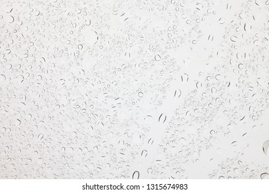 Rain droplets on glass background, Water drops on glass.