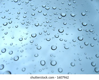 Rain drops bubbles