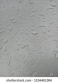 Rain drops on the car hood