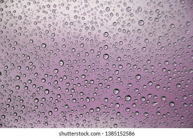 Rain drops on ink background