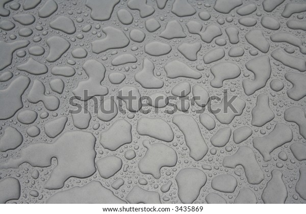 Rain drops on metal background