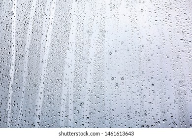 rain drops on window  background