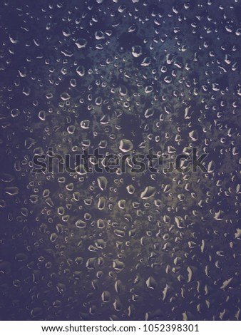 9b86c0cf39bb8 Rain Drops On Window Dark Tone Stock Photo (Edit Now) 1052398301 ...