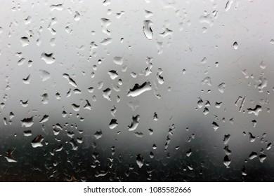 Rain drops on a window, stormy weather