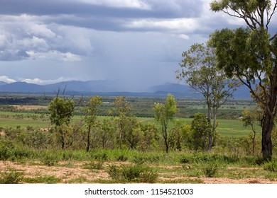 Rain falling on the Atherton Tableland in Tropical North Queensland, Australia