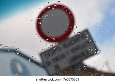 Rain forbidden signal