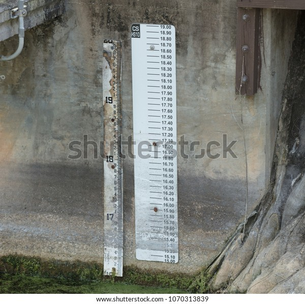 Rain Gauge Helps Chart Rainfall Measurements Stock Photo