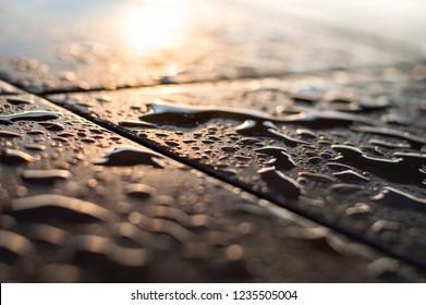 Rain, ground, watter