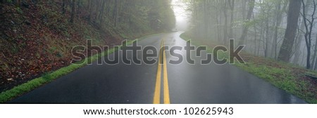 Rain on Foothill Parkway, Great Smokey National Park, Tennessee