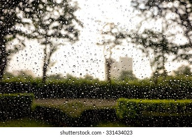 Rain on the glass