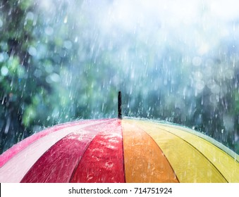 Rain On Rainbow Umbrella