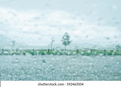 Rain on the way,rainy days,rainy season, blur
