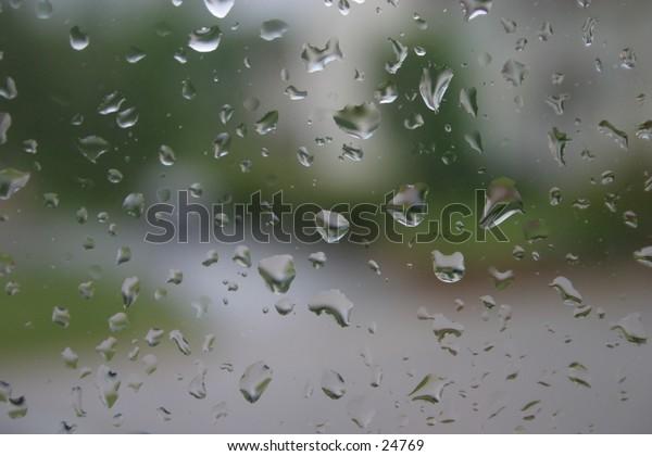 Rain on a window.