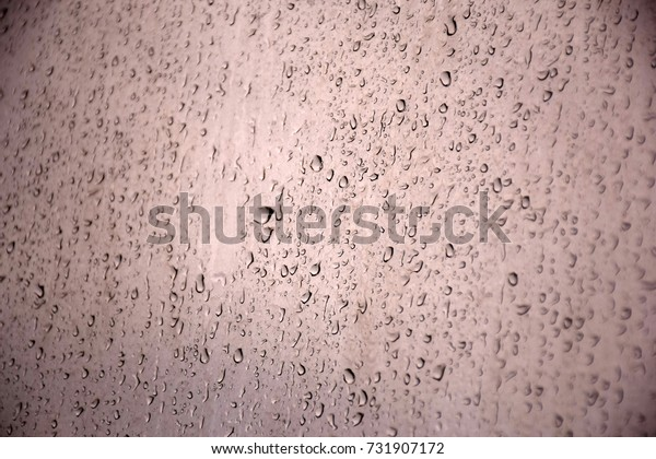 Rain on the window glass