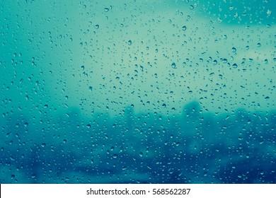Rain on window texture. Rain background