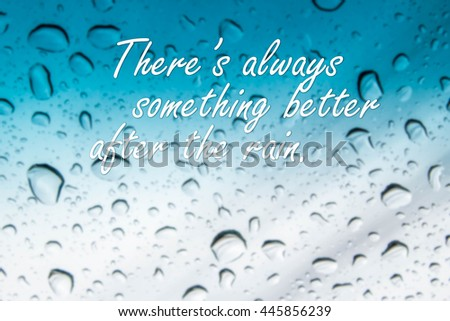 Rain Quotes On Abstract Blurred Rain Stock Photo Edit Now