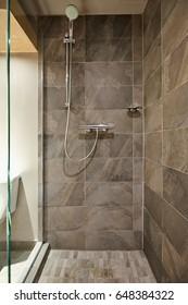 Rain shower bathroom stone tile background