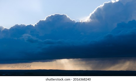 Rain Storm clouds over the Vale of Aylesbury, in Buckinghamshire, England, on a summers evening.