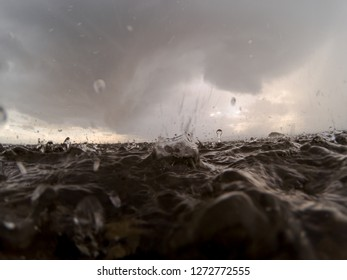 Rain Storm On Puget Sound